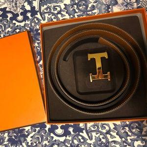 Hermes Belt - Reversible Black/ Brown